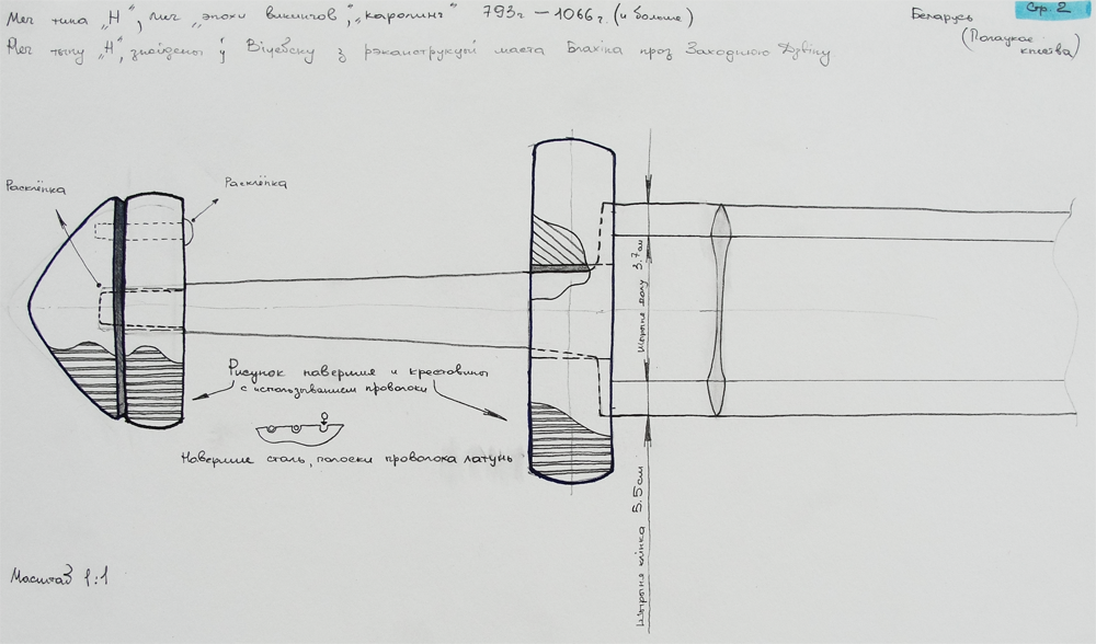 reconstruction of the sword