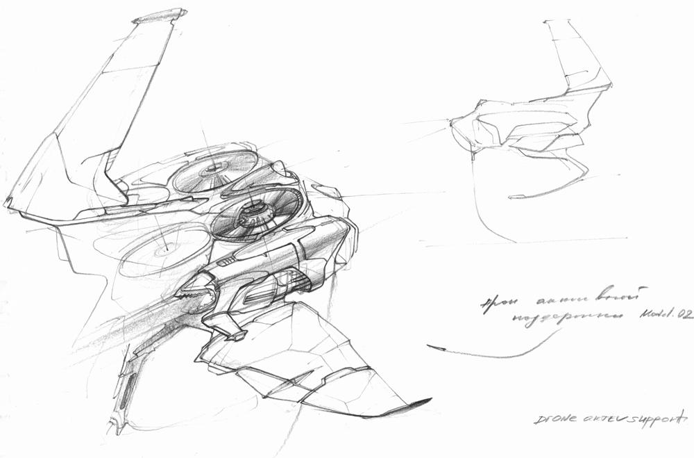 рисунок беспилотника
