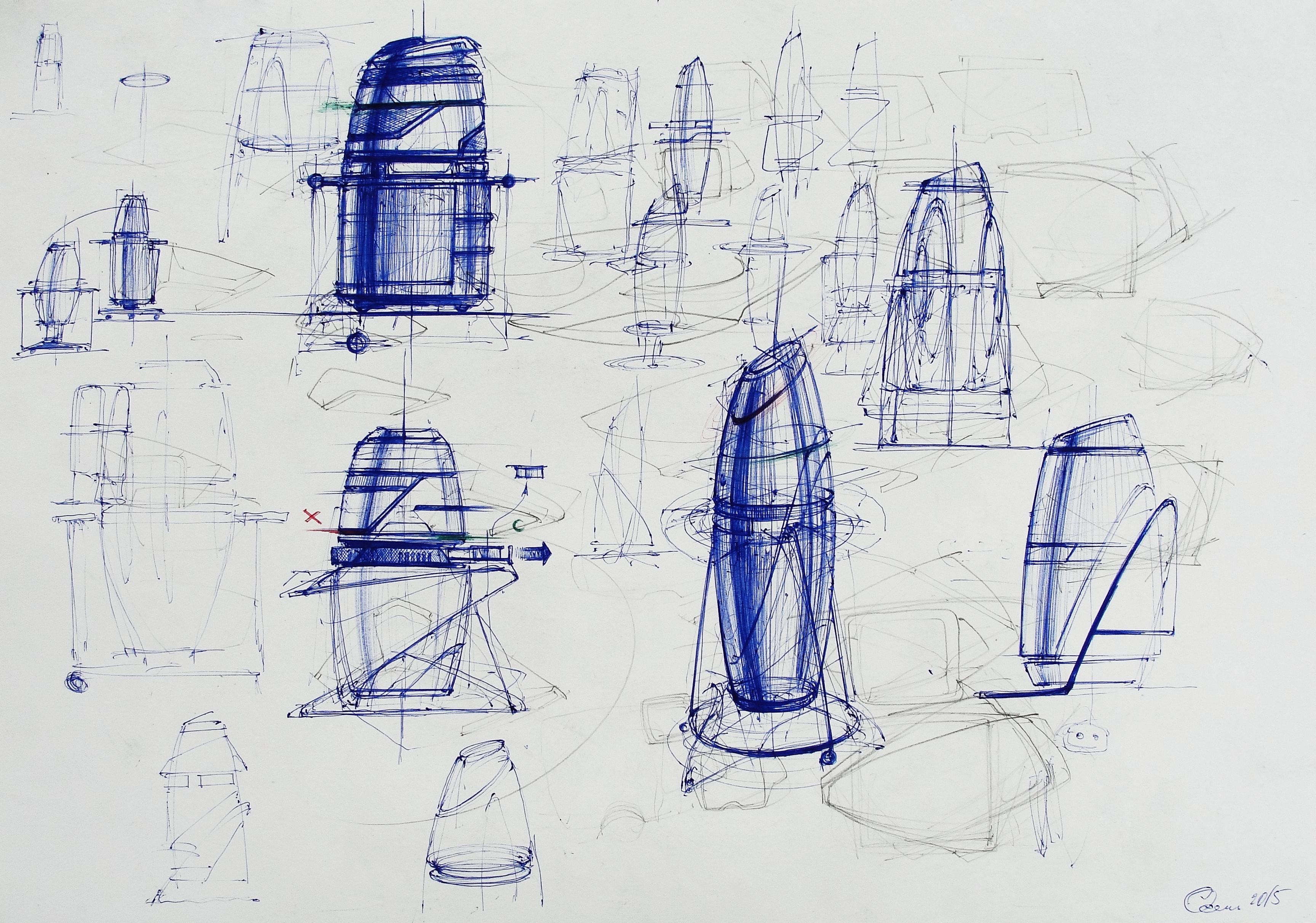 рисование шариковой ручкой