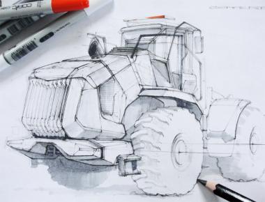 проект экстерьера колёсного погрузчика